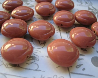 VIntage lucite beads Mocha capuccino  (20)
