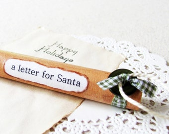 Rustic Christmas Ornament- A Letter For Santa