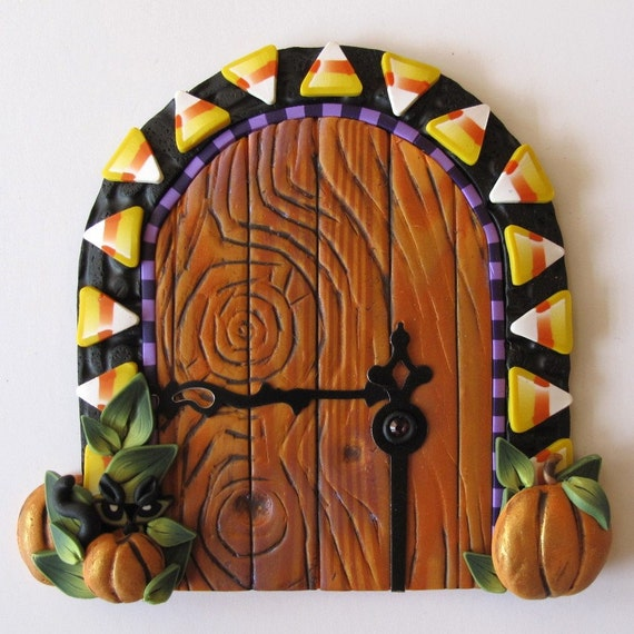 Candy Corn Fairy Door