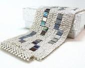 Shining Night Beadwoven Cuff Bracelet - Modern Blocks Collection