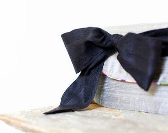 Black wedding clutch, Vintage wedding, bridesmaids gifts, silk purse