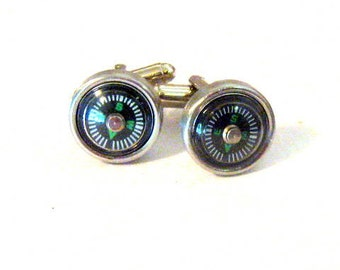 Compass  Cuff Links Cufflinks