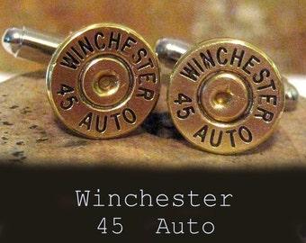 Winchester Bullet cufflinks cuff links 45 Auto Weddings