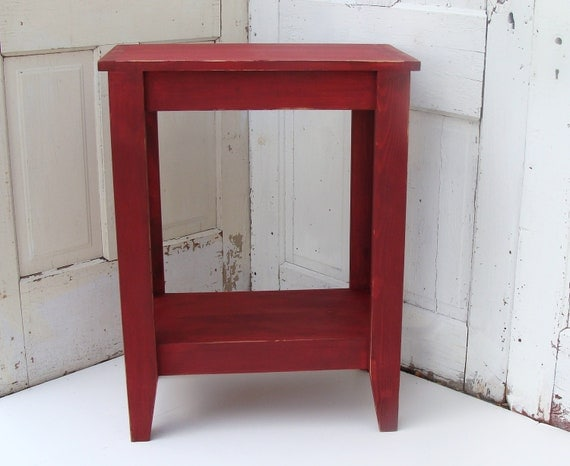Foyer Table Red : Rustic entryway table console red wood