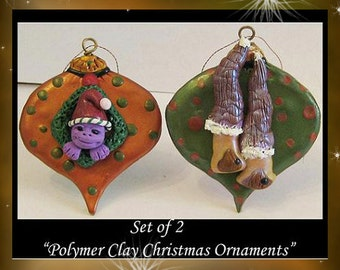 Art Doll Fantasy Christmas Ornament Elf Houses Sculpture OOAK