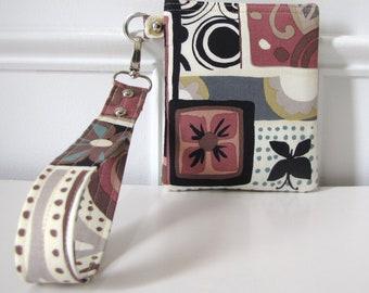 Butterfly Floral Wristlet Zipper Gadget Pouch