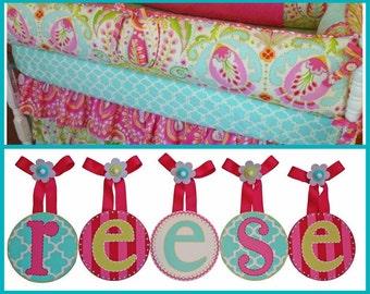 Baby Nursery Round Hanging Wall Letters for Garden Kumari Bedding