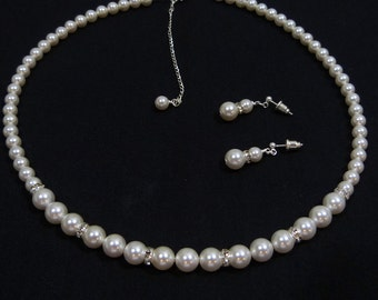 Swarovski White Pearl Set