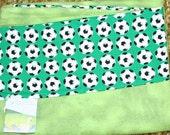 Flannel Pillowcase-Soccer Theme