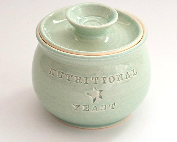 Nutritional Yeast Jar - Aqua