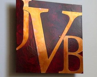 Custom Copper Letter Artwork, 8 inch