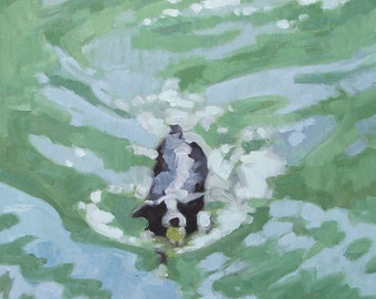 Fetching - reproduction of original oil by Nicole Strasburg