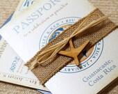 Vintage Journey of Love Passport Wedding Invitation (Guanacaste, Costa Rica) - Design Fee