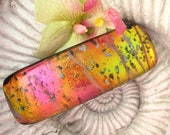 Large Hair Barrette - French Barrette - Pink Dream  -  Fused Dichroic Glass Barrette  - Fused Glass Jewelry 120612b102