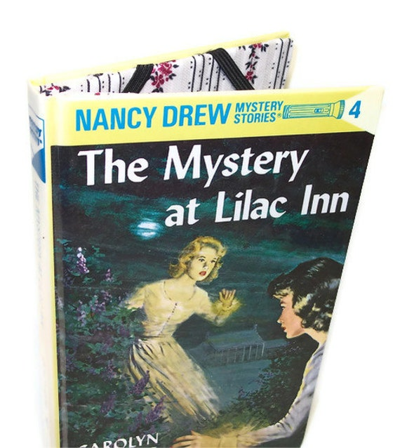 Cover for Kindle Nook or Kobo Nancy Drew Book - Mystery at Lilac Inn - Device case made from a vintage book