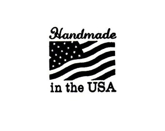 Handmade in the USA Rubber Stamp