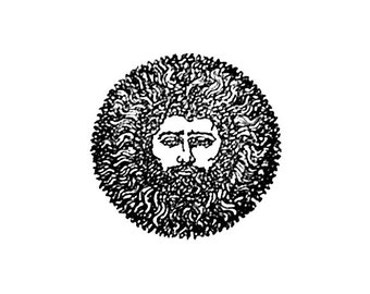 CLEARANCE Detailed Green Man Rubber Stamp Greenman