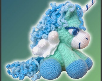 Amigurumi Pattern Crochet Peppermint Pegasus DIY Digital Download