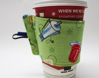 cup sleeve .. recycled .. choose your fabric
