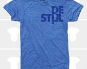 Men T-Shirt: De Stijl - Athletic Blue