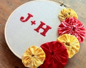 Initials / Monogram Custom Embroidery (choose your colors)