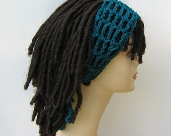 Pick your color custom Dread headband dreadband head hair band wrap scarf hippie bandana