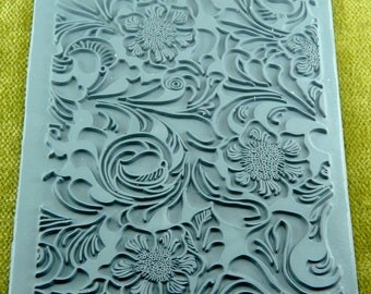 TOOLED LEATHER Lisa Pavelka Rubber Stamp  Design  for Embossing / Texture / Inking