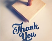"2.5"" Small THANK YOU Script Stamp"