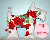 Instant Download 1/2 Yard Scotties Scotty Dog Plush Pattern Pillow DIY Sewing Tutorial