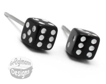 Earrings - Mini Dice Studs
