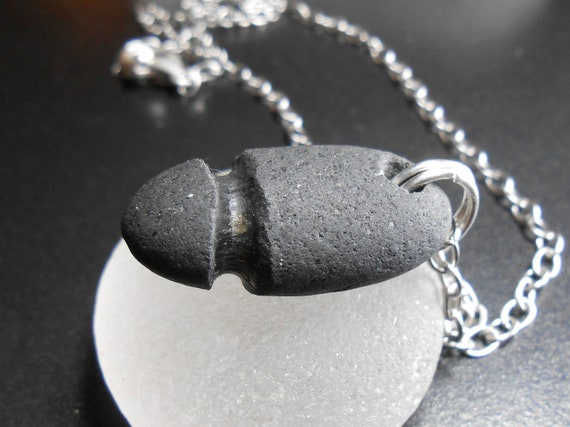 Beach Stone Necklace - Penis Pebble Jewelry - ROCK HARD