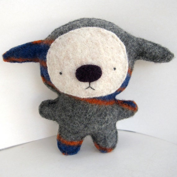 Big Manny Foo - Recycled Wool Plush Toy MADE TO ORDER