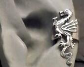 Silver   DRAGON EAR CUFF   Sterling Handcrafted Ear Band Wrap