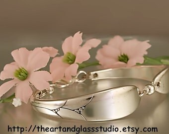 Silver Spoon Bracelet LADY HAMILTON Jewelry Vintage, Silverware, Gift, Anniversary, Wedding, Birthday