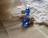 Reserved Listing for Something Borrowed Something Blue Stick Pins or Ascot Pins