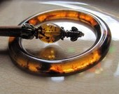 Tortoise Shell Shawl Pin Ring (RING ONLY)