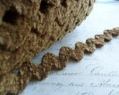 Burlap Brown  1/2 inch wide Chenille Ric Rac