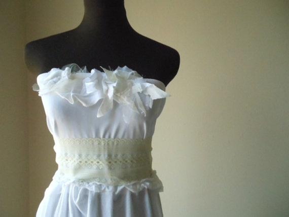 Elven Bridal Dress - Fairy Pixie Wedding Gown - Alternative One of a Kind Handmade