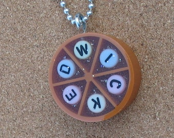 sale item - WICKED upcycled trivial pursuit keychain or necklace