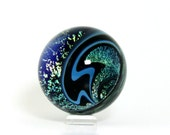 Handmade Contemporary Art Glass Vortex Marble 45