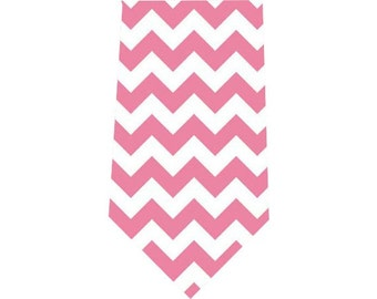 Men's Tie Pink Chevron Necktie