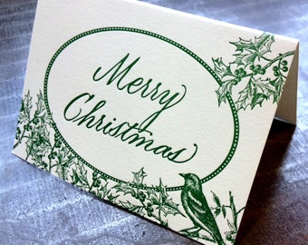 Merry Christmas, single letterpress card