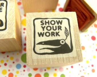 Show Your Work - Monster rubber stamp for teachers