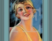 PR-127 Artistic Ephemera 8 x 10 Print - Art Deco Flapper Beauty Shop Ad - Also Available as Small Prints, Thank You Cards and Postcards