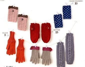 Knit and Crochet Hand Warmers, Mittens and Gloves - Japanese Craft Book