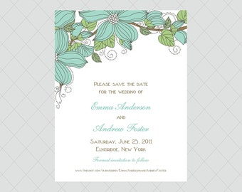 Flower Save the Date Cards