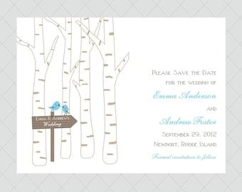 Birch Tree Wedding Save the Dates