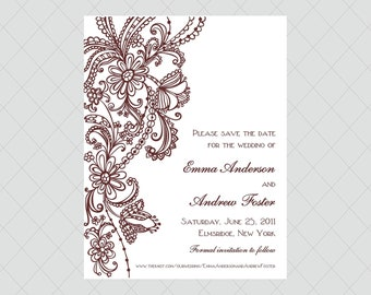 Vintage Wedding Save the Dates