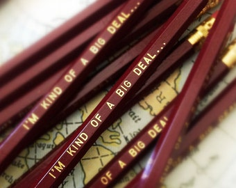 I'm Kind of a Big Deal Will Ferrell Humorous Pencil 6 Pack Brown