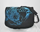 Year of Dragon Vintage Canvas Paratrooper Bag  black
